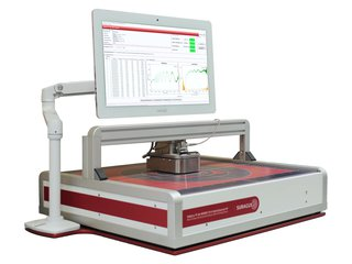 Single point sheet resistance tester EddyCus® TF lab 4040SR with wafer