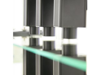 EddyCus® TF inline glass measurement application with 3 sheet thickness and sheet resistance sensors